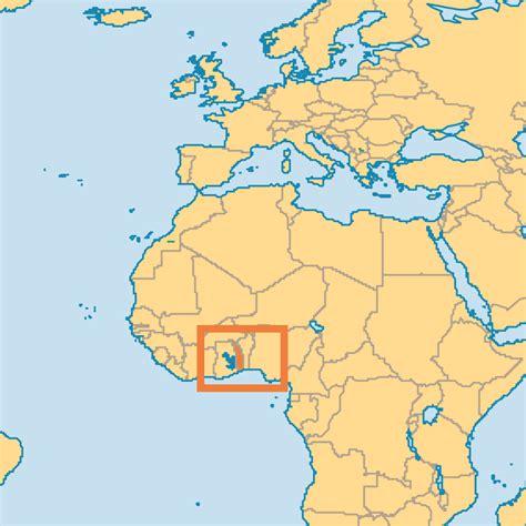 togo on a map togo operation world