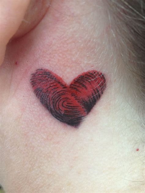 thumbprint heart tattoo fingerprint s piercing
