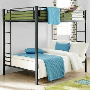 full size bunk beds black double bunkbeds kids dorm loft bed bedroom furniture ebay