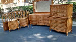 vintage french provincial bedroom set by by