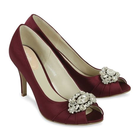 Burgundy Wedding Shoes by Claret Occasion Shoes Tender By Paradox Perdita S