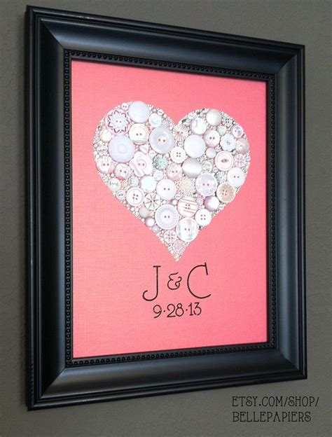 Handmade Wedding Gift - 219 best images about button craft on fabric