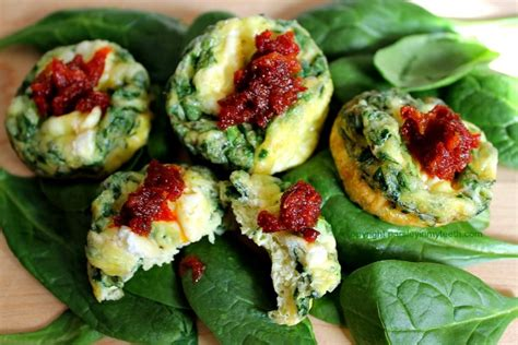 Morning Sun Rabbit Food 1 2 Kg mini frittatas with spinach goat cheese sun dried tomato