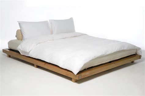 low futon bed low level kingsize bed oriental elm finish futon company