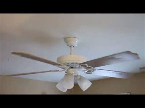 52 quot hton bay brookhurst ceiling fan white bleached