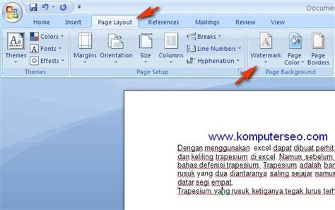 membuat hyperlink di word 2007 cara membuat watermark di word 2007 komputer seo