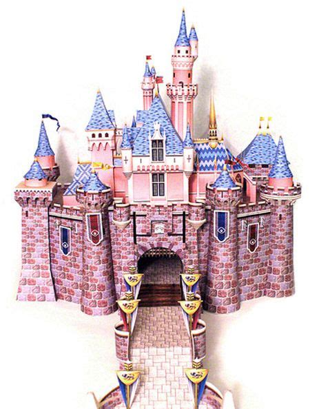 Sleeping Castle Papercraft - sleeping castle paper model free templates