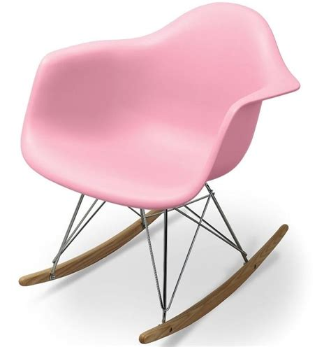 Pink Nursery Rocking Chair by Mid Century Modern Eames Style Rar Baby Pink Rocking Chair Rocker Nursery Accent