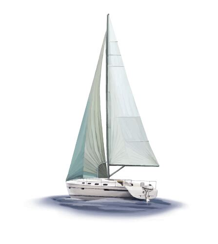 sailing boat elements vector sailing boat design material