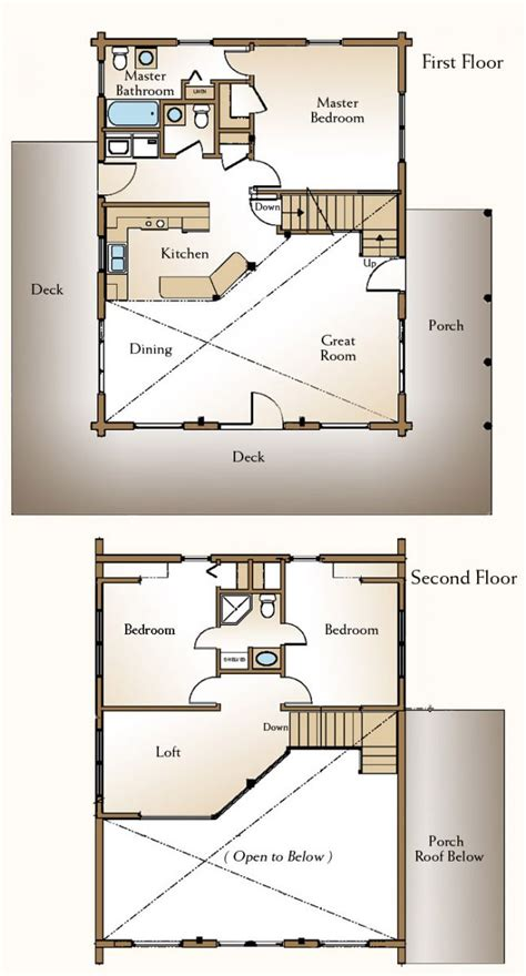 Real Log Homes Floor Plans | the augusta log home floor plans nh custom log homes gooch real log homes