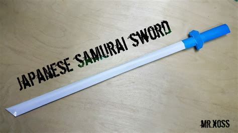 How To Make Paper Weapons At Home - how to make a paper sword japanese samurai sword