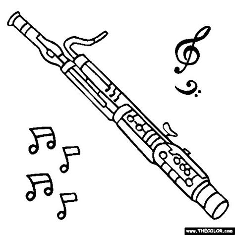 bassoon coloring page color a bassoon embroidery