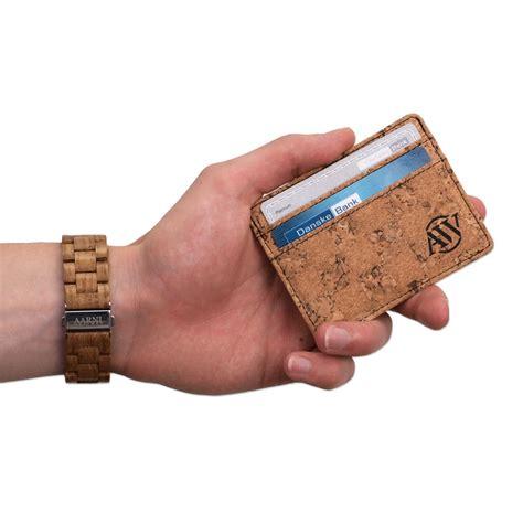 Cork Card Holder Template by Cork Card Holder Aarni Wallet Made Of Cork