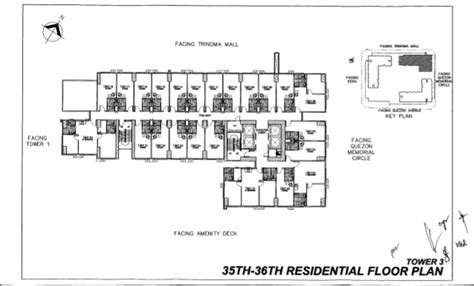 layout key plan at vita t3 residential and parking layout