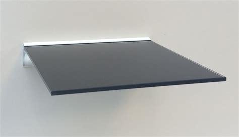quadrat regal glasregal quadrat 30x30 cm klar satiniert schwarz mit alu