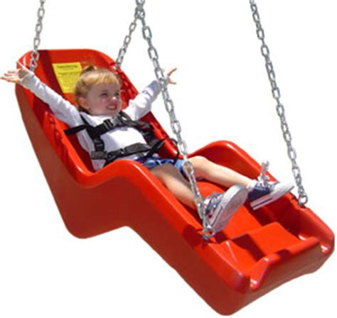 swing for child with disabilities jennswing molded swing seat handicap accessible