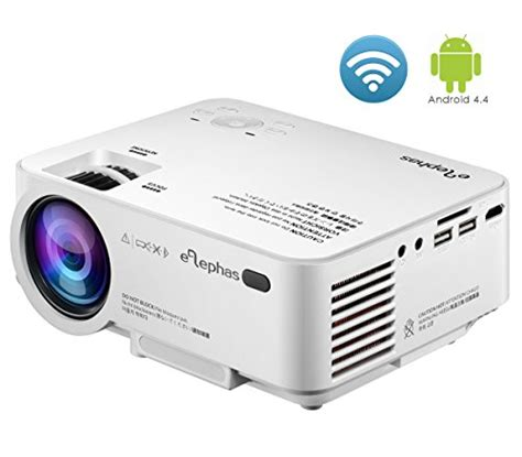 Mini Projector Led Luxeon wifi mini projector elephas built in android with