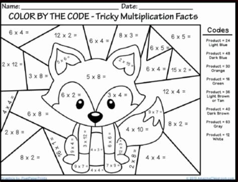 Free Coloring Pages For 2nd Grade Winter Multiplication Coloring Sheets Fun Math Coloring by Free Coloring Pages For 2nd Grade