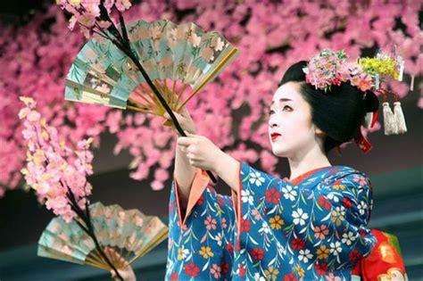 Cherry Hinata Flower Kimono geisha at cherry blossom festival in japan cherry blossom cherries festivals