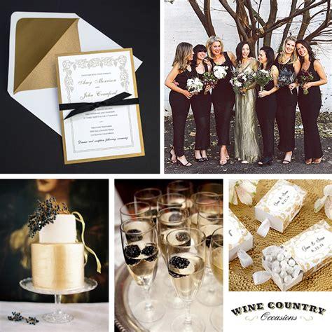 black gold wedding theme