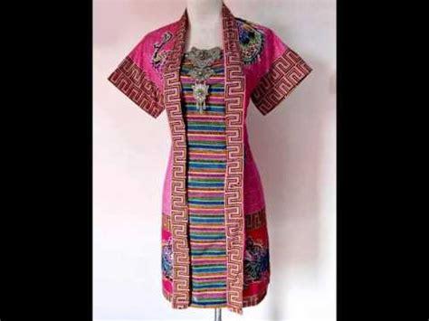 Blouse Batik Cap Encim Pastel batik encim kemuning merah 07 baju kerja batik