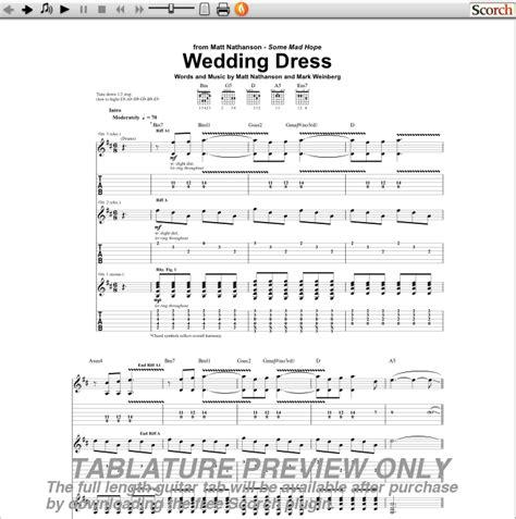 Wedding Dress Chord by Matt Nathanson Wedding Dress Chords Taranta