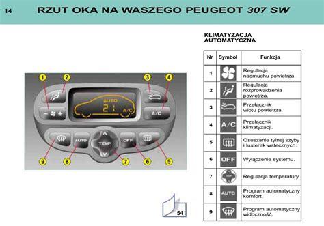 peugeot 307 manual pdf manual peugeot 307 sw peugeot 307 sw instrukcja page 13 pdf