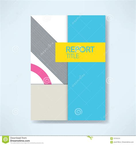 annual business report cover template with modern material