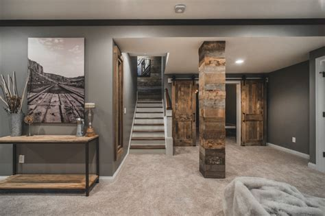 rustic finished basement harlan court finished lower level rustic basement