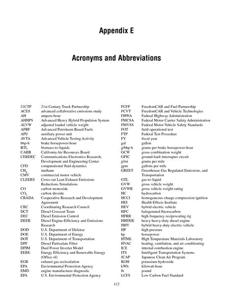 abbreviation for room e acronyms and abbreviations review of the 21st century truck partnership the national