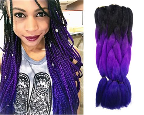 purple ombre braiding hair purple ombre kanekalon jumbo braiding hair styles 24