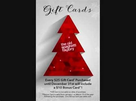 Spaghetti Factory Gift Card - spaghetti factory gift cards an offer you can t refuse youtube