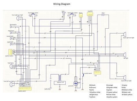 pit bike wiring diagram electric start 38 wiring diagram
