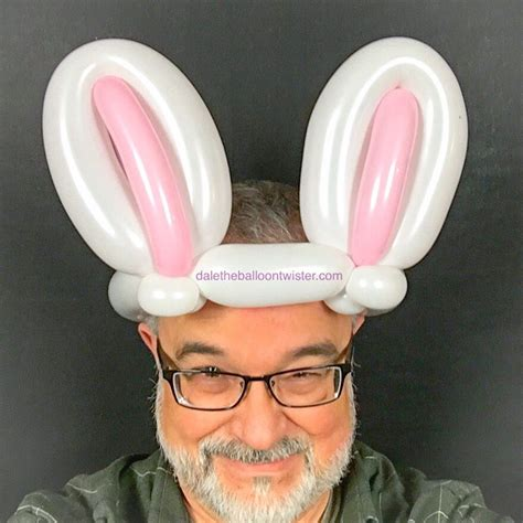Bunny Ear Hat by 3 Balloon Bunny Ear Hat Balloon Sculptures