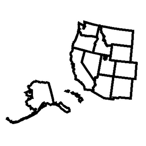 blank outline map of western united states pics for gt us western region blank