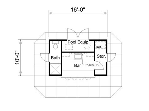 pool house plans images