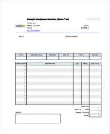 6 handyman invoice template free sle exle format