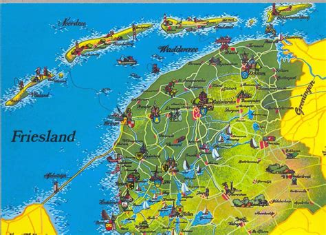 netherlands friesland map my picture postcards netherlands friesland