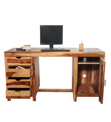 Sheesham Wood Desk by Tangier Sheesham Wood Writing Desk By Mudra