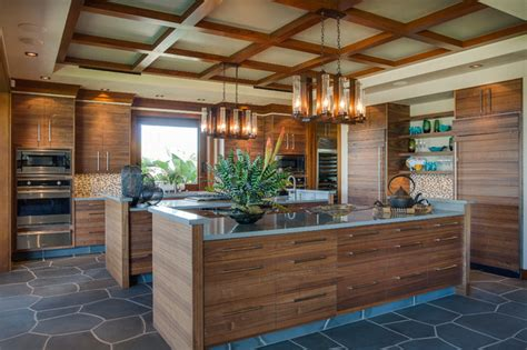 Tropical Kitchen Design Hawaii 1 Tropical Kitchen Other Metro By Norelco Cabinets Ltd