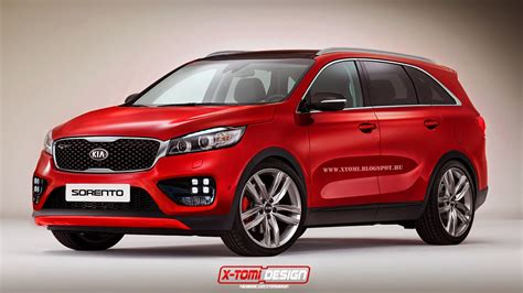 New Kia Sorrento New Kia Sorento Rendered Sporty Via Gt Treatment