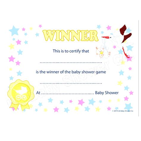 baby certificate template baby shower certificate templates filename discover