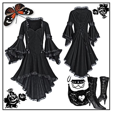 steunk clock tattoo black dresses