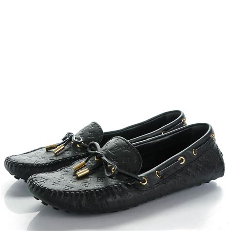 louis vuitton loafers louis vuitton empreinte gloria loafers 40 noir black 139814