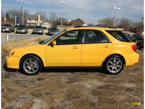 2003 Sonic Yellow Subaru Impreza Wrx Wagon 1280181 Photo
