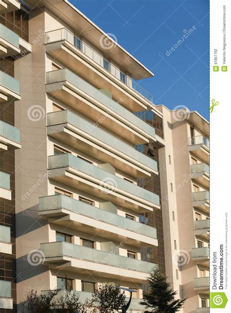 apartment with balcony open balconies modern apartment building stock photo