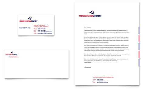 Company Templates transportation company business card letterhead template