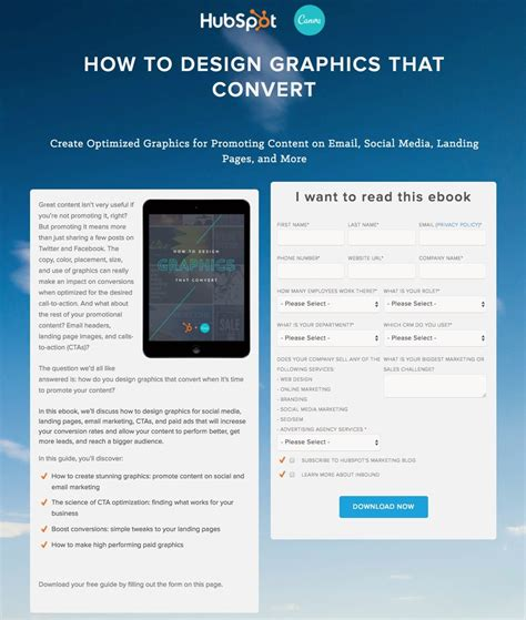 ebook landing page template how to create an optimized ebook landing page lander