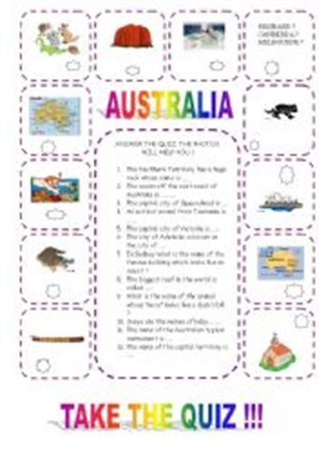 printable quiz about australia english worksheets australia quiz