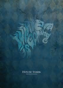 of thrones sigil typography stark by stirpel on